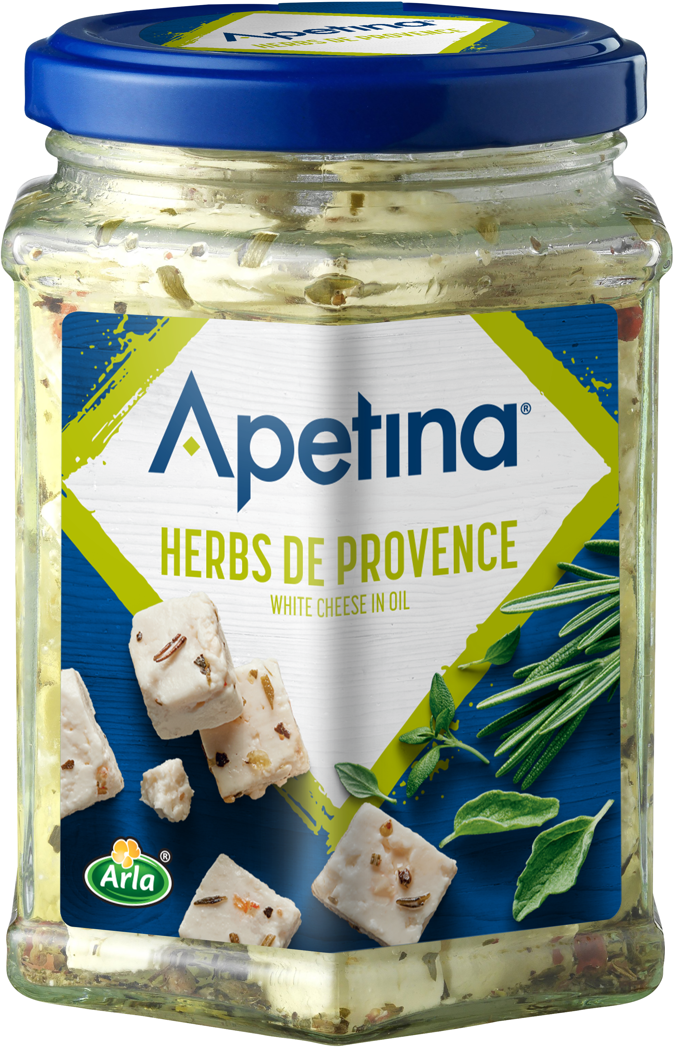 Apetina® Apetina white Cheese Cubes in Oil Herbes de Provence 265g
