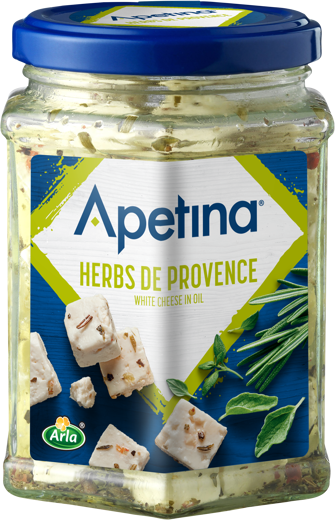 Apetina white Cheese Cubes in Oil Herbes de Provence 265g