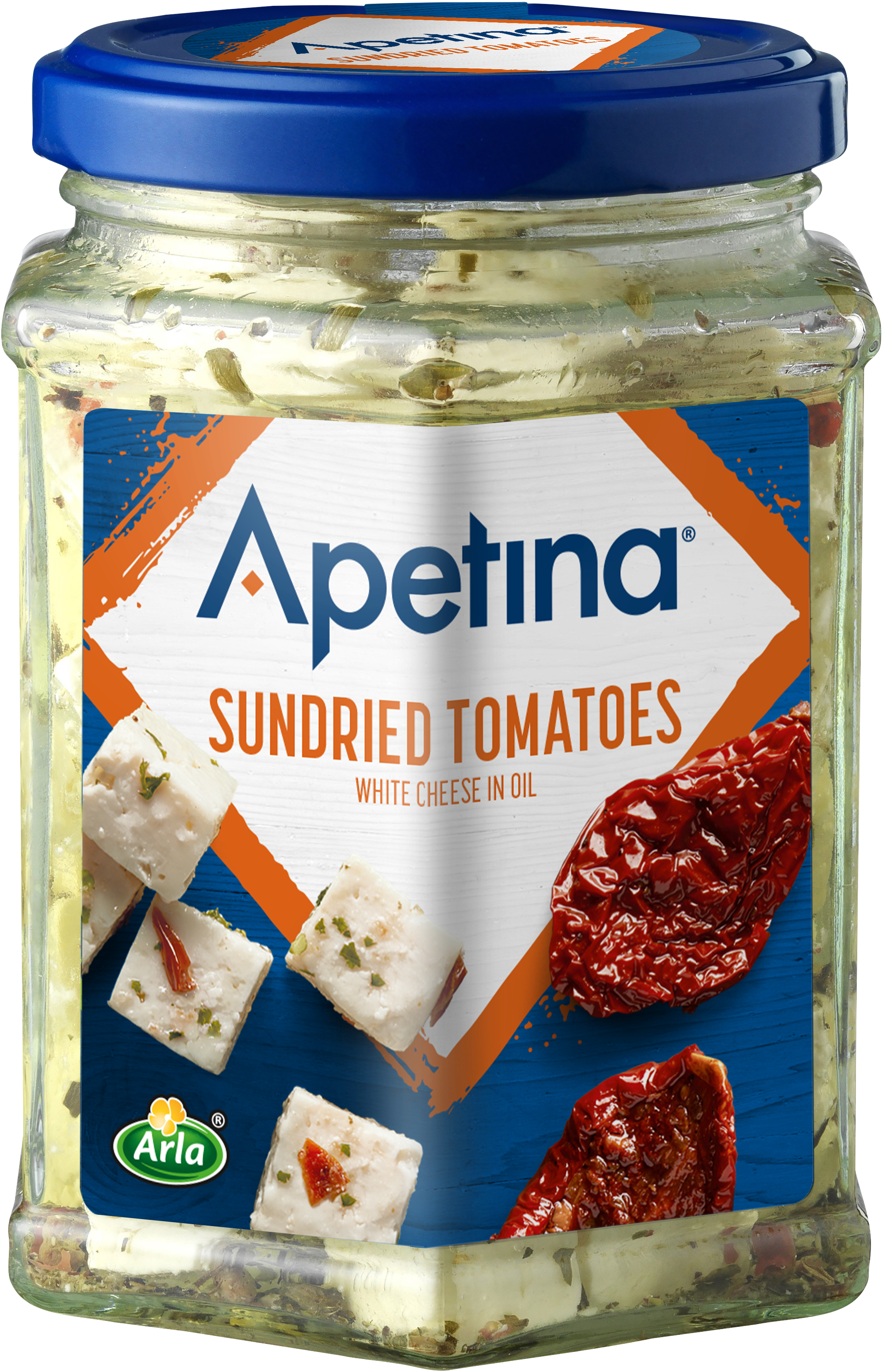 Apetina® Apetina white cheese cubes in oil Sundried Tomatoes 265g
