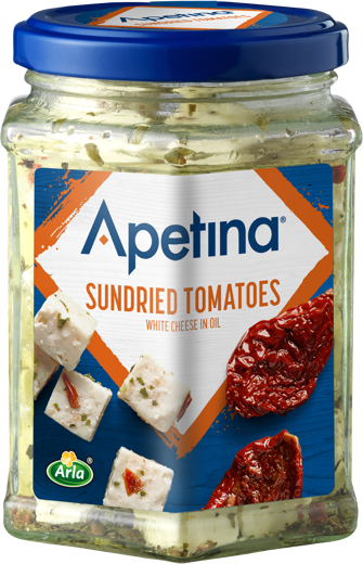 Apetina white cheese cubes in oil Sundried Tomatoes 265g