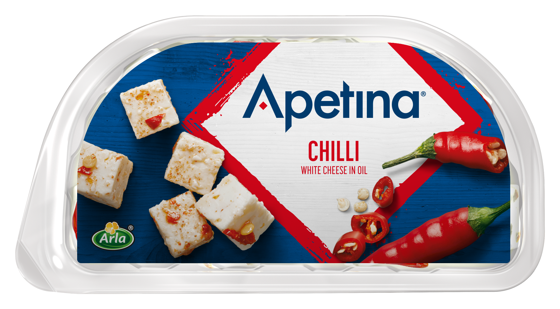 Apetina® Apetina white cheese cubes in oil chili 100g