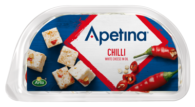 Apetina white cheese cubes in oil chili 100g