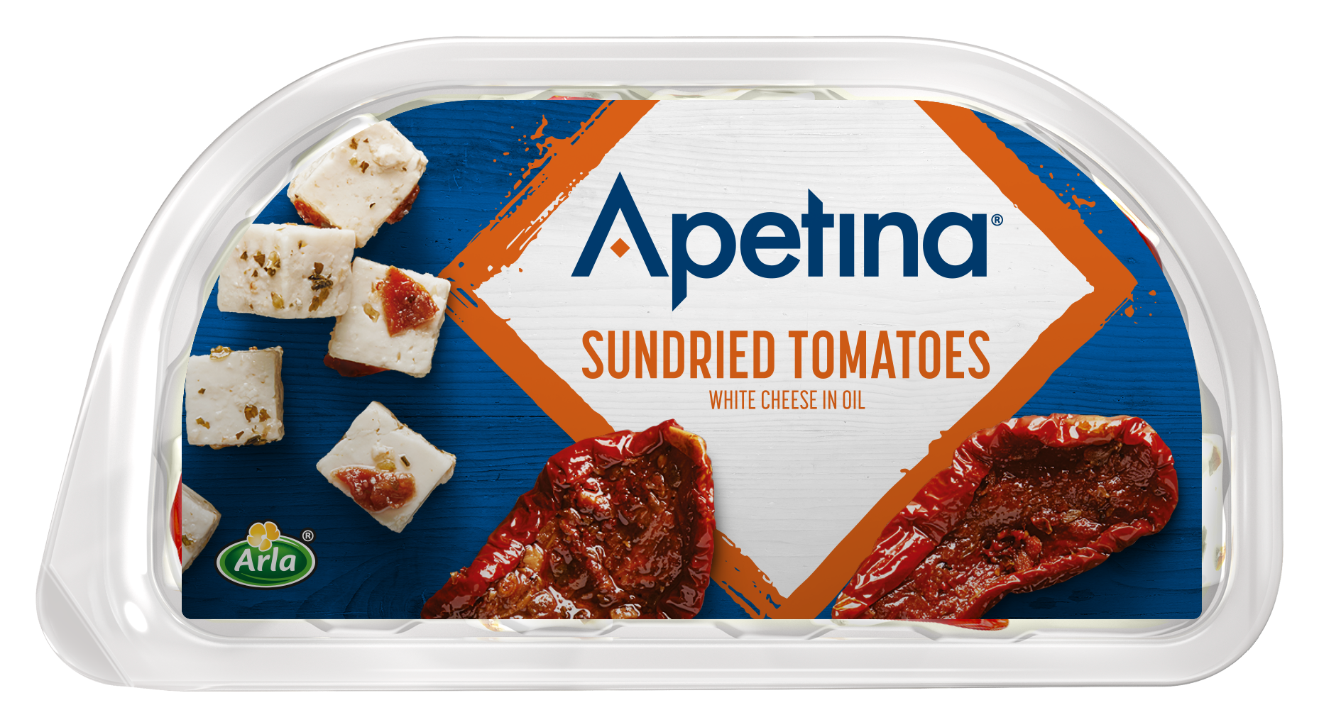 Apetina® Apetina white cheese cubes in oil Sundried Tomatoes 100 g