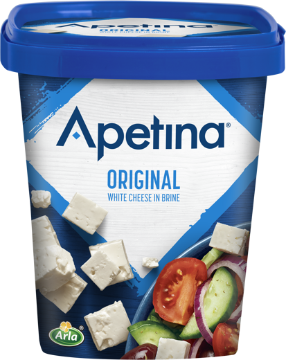 Apetina white cheese cubes in brine