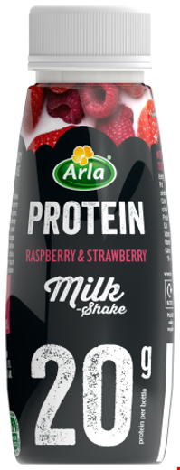 Arla Protein Raspberry & Strawberry Milkshake 225ml